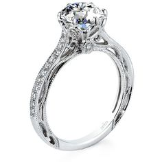 Parade Design R2928 R2928 Engagement Ring and Parade Design R2928... ❤ liked on Polyvore featuring jewelry and rings