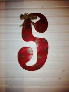 """Hand Painted """"S"""" Door Hanger"""