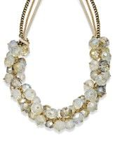 c.A.K.e. by Ali Khan Necklace, Gold Tone Cluster Glass Beaded Frontal