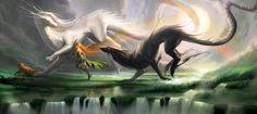 Running With Spirits | sakimichan on deviantart.com