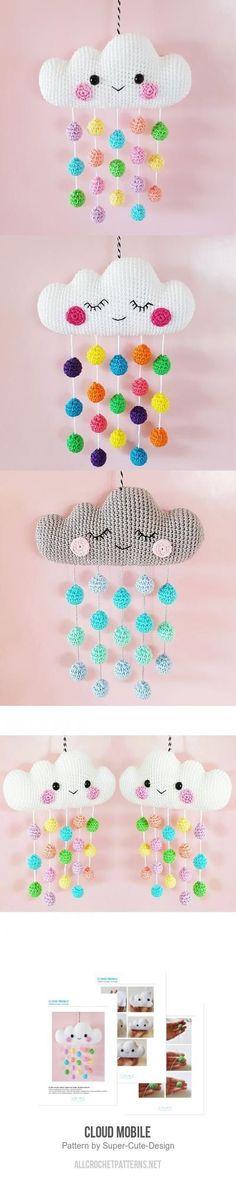 Yarn Hook Needles: Cloud Mobile Crochet Pattern