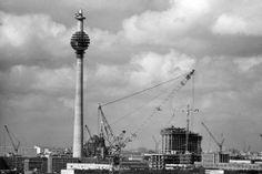 Bau des Berliner Fernsehturms in Ost-Berlin, 1968