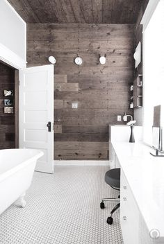 Vintage modern rustic. Wall ceiling with whiten wow