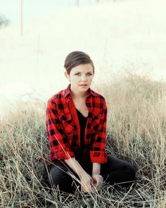 Ginnifer Goodwin  girly flannel with short hair