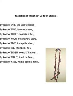 Witches ladder chant