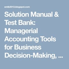Test bank for international business 15th edition by daniels managerial accounting tools for business decision making 5th canadian edition weygandt kimmel kieso test bank and solution manual fandeluxe Images