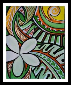 Art for living room Polynesian Art, Polynesian Designs, Hawaiian Art, Hawaiian Tattoo, Samoan Patterns, Island Crafts, Maori Art, Doodle Designs, Tropical Art