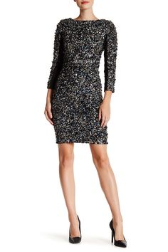 3/4 Length Sleeve Sequin Dress by Haute Hippie on @nordstrom_rack