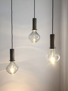 Pendants with hidden light source / Isabel hamm licht Glass Pendants, Ceiling, Chandelier, Decor, Pendant Light, Glass, Light, Bespoke Lighting, Home Decor