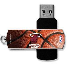 Miami Heat Basketball Design USB 8GB Flash Drive by Keyscaper, Multicolor