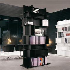 Bookcase in MDF mod. Wally, Cattelan. // Biblioteca en MDF mod. Wally, Cattelan. // Libreria in MDF mod.Wally, Cattelan. #bookcase #biblioteca #libreria #mdf #cattelan