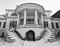 Views of an abandoned mansion near Moscow, by Yevgen Mironenko.