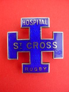 Nurses badge St Cross Hospital Rugby