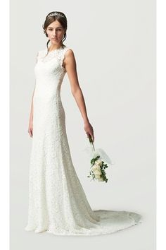 21 best Beautiful wedding dresses images on Pinterest   Wedding     Wedding Gown NYC  Sheath wedding dress Stunning