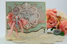 Card Making Idea by Becca Feeken using JustRite Special Delivery and Bundle of Joy Labels Five along with Spellbinders