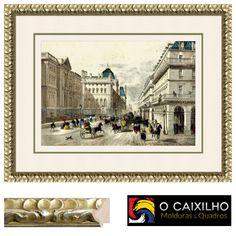 Moldura em Folha de Prata  Vidro Anti-reflexo  Kline Normal de 5mm  3 Cartolinas  Já disponivel na nossa loja online: http://www.caixilho.com/produto/fprata3-moldura-em-folha-de-prata