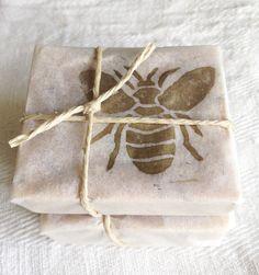Honey soap homemade wrapping