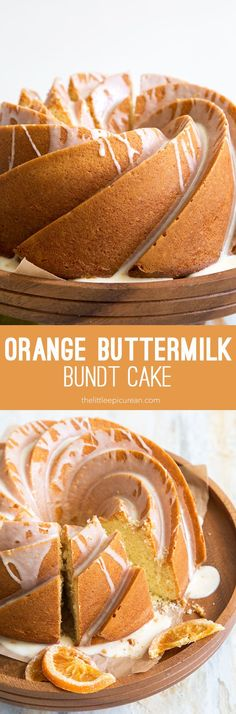 Orange buttermilk bundt cake: this moist and flavorful bundt cake is suitable for breakfast and even better as an afternoon pick-me-up with an iced coffee.