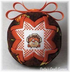 Quilted Keepsake Ornament - Thanksgiving / Turkey
