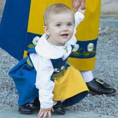 Princess Estelle attended the Swedish National Day celebrations on June 6, 2013 Princess Estelle, Swedish Royals, Victoria, Celebrities, Children, Face, Sweden, Young Children, Celebs