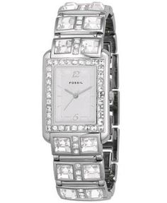 Fossil ES1512 Women's Glitz Silver Dial Quartz Watch
