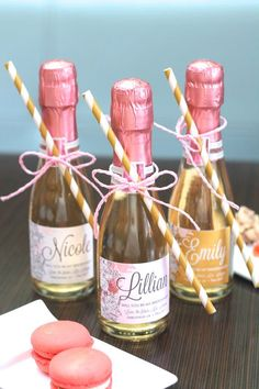 DIY - Custom Mini Champagne Will You Be My Bridesmaid Labels - Will You Be My Maid of Honor & Bridesmaid