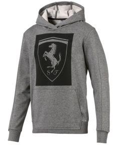 9fc013a406a2 Puma Men s Ferrari Big-Shield Hoodie - Gray XL Puma Mens