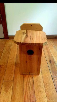 Handmade cedar bluebird house