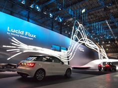 Audi – Lucid Flux / MORITZ WALDEMEYER Impressive large backdrop with what looks like some animated light pipes/ tubes.