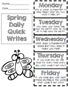 Freebie!  Foldable Quick Writes - Fun Prompts!