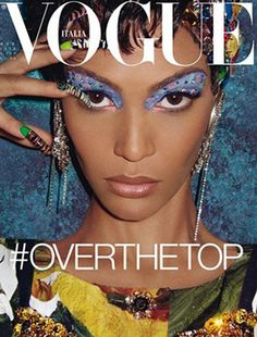 Over the Top & Joan Smalls covers the March edition of Vogue Italia, shot by Steven Meisel. This marks Joan Smalls first Vogue Italia cover. The Puerto Rican beauty was styled by Lori Goldstein with hair and makeup by Jimmy Paul and Pat McGrath. Vogue Covers, Vogue Magazine Covers, Fashion Magazine Cover, Fashion Cover, Joan Smalls, Steven Meisel, Édito Vogue, Vogue Fashion, High Fashion