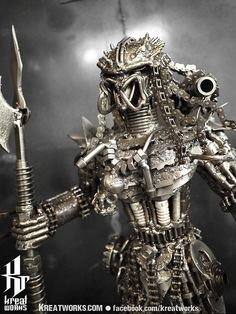 The Metal Standing Predator by Kreatworks on Etsy, $320.00