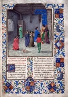 Giovanni Boccaccio, translated by Laurent de Premierfait, Decameron  Netherlands, S. (Bruges); after 1473, before 1483 [British Library Copyright]