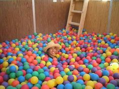 I am most definitely having a ball pit room in my dream house. Just sayin'...