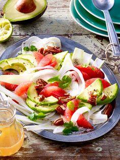 Erfrischende Grapefruit und knackiger Fendchel harmonieren bestens mit cremiger Avocado.
