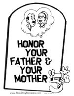 Commandment Page Ten Coloring Sheets | hird Commandment Coloring Page: