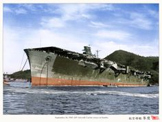 A colorized photo of the IJN carrier Junyo