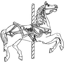 117 best Carousel Animal Coloring Pages images on Pinterest ...
