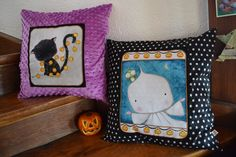 coussin spécial Halloween en coton et minkee https://www.facebook.com/VanCo-699940816693275/