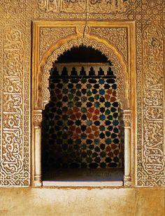 Patio de los Leones, the Court of the Lions, Alcazar, Alhambra, Granada