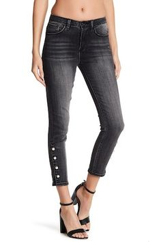 Image of Kensie Jeans Ankle Crop Pearl Accent Jeans Kensie Jeans, Nordstrom Rack, Black Jeans, Skinny Jeans, Ankle, Pearls, Clothes, Image, Fashion