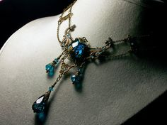 Peacock blau viktorianischen Choker Teal von TitanicTemptations