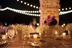 Casa Feliz: Lindsay and Chris's Rustic Romance Wedding | Stephanie A. Smith Photography, Lee James Floral Designs, Champagne Glass Glitter Chargers by A Chair Affair Event Rentals.