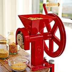 Hand Crank Burr Grinder Grain Mill & Clamp #williamssonoma