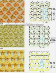Tres puntos crochet para combinar colores | Todo crochet