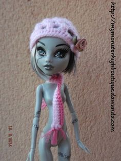 conjunto de gorro con bufanda c3 de My Monster High boutique por DaWanda.com
