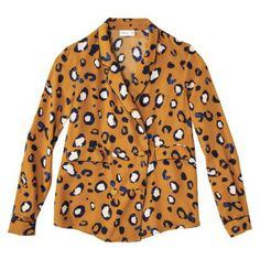 3.1 Phillip Lim for Target® Tuxedo Shirt -Animal Print