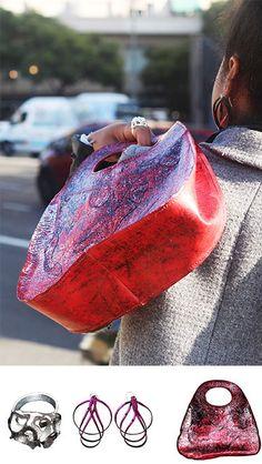 Anillo Genesis de metal, Aros Enigma de fusion con la Cartera Oval roja... Los accesorios de tu vida cotidiana! Louis Vuitton Speedy Bag, Enigma, Tote Bag, Bags, Fashion, Jewelry Making, Fashion Accessories, Purses, Originals