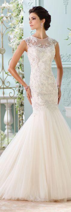 The David Tutera for Mon Cheri Spring 2016 Wedding Gown Collection - Style No. 116222 Ica #laceweddingdress