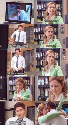 My absolute favorite scene from the office Office Quotes, Office Memes, Parks N Rec, Parks And Recreation, The Office Show, Pam The Office, Office Cast, Jim Pam, John Krasinski